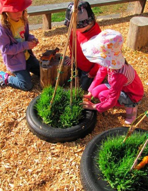bepflanzen als Kinderspiel