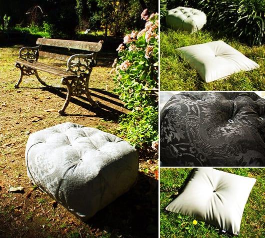 beton im garten als Idee für kreative Gartengestaltung mit Betonmöbeln