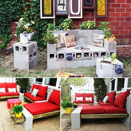 kreative Bastelidee mit Formsteinen für DIY Gartenmöbeln