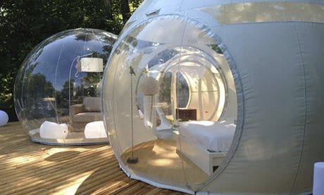 coole Urlaubsort_Bubble Hotel in Frankreich