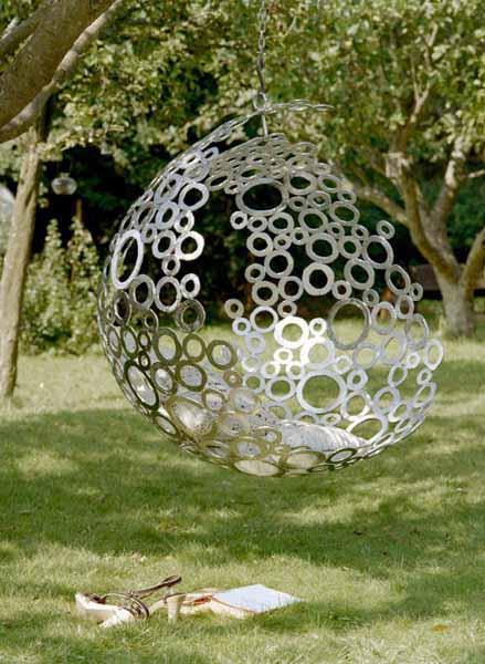 Idee für DIY Hängesessel aus Metall