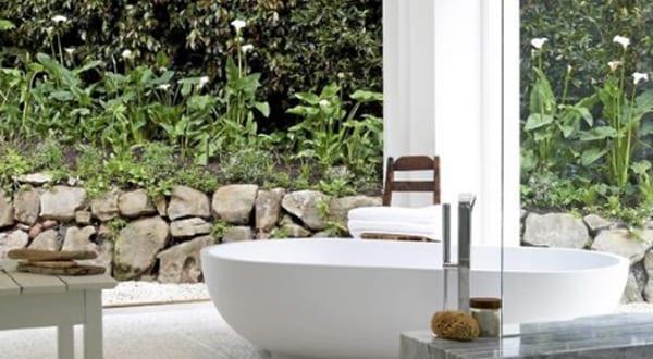 badezimmer inspiration für badezimmer ohne fliesen mit freistender ...