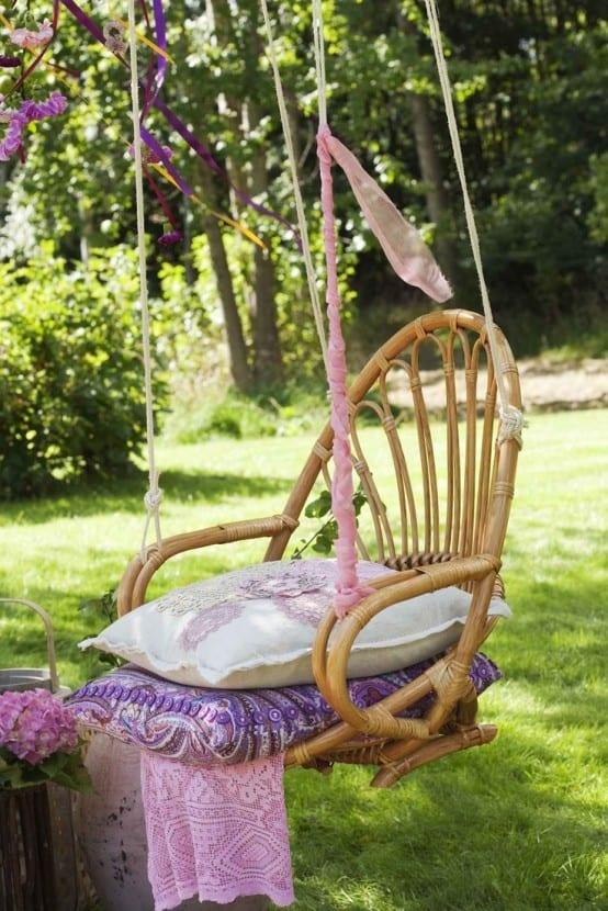 hängesessel selber bauen gartendeko ideen mit hängesessel und hängematte - freshouse