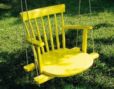 DIY Hängesessel gelb aus Holzstühl