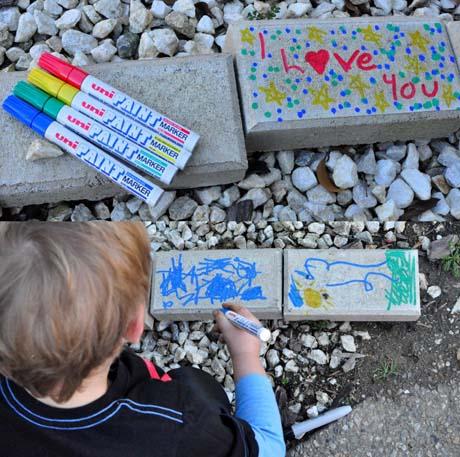 bastelidee für kinder mit steinen