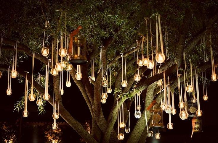 DIY Gartenparty deko mit teelichthaltern