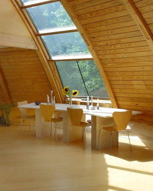 modernes esszimmer interior asu holz und naturstein