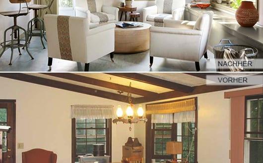 fensterrahmen-und-deckenbalken-streichen-als-renovierungsideen-für, Wohnzimmer