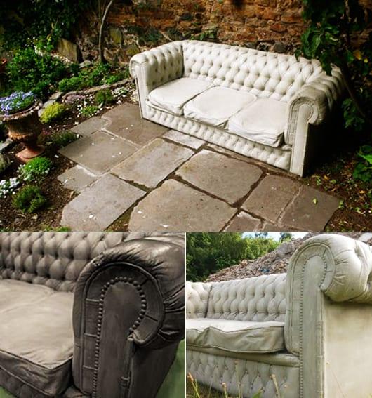 betonsofa als gartenmöbel asu beton für interessante gartengestaltung