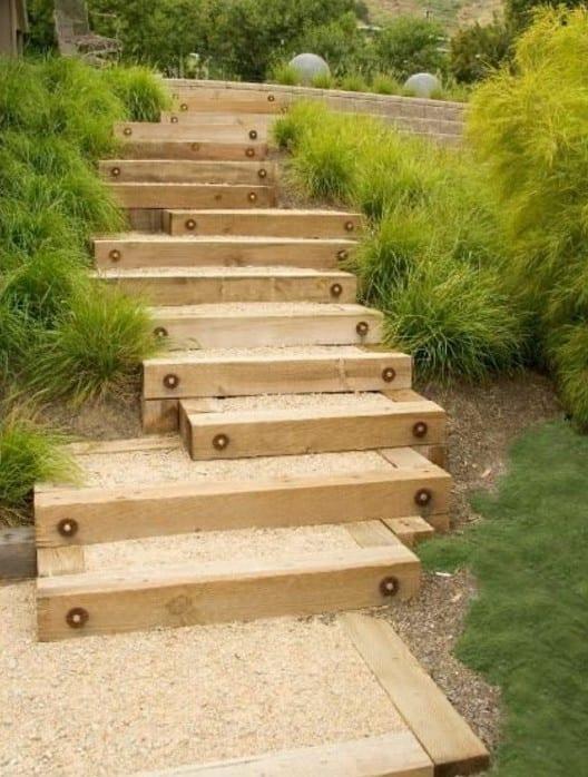 interessante idee für DIY Gartentreppe