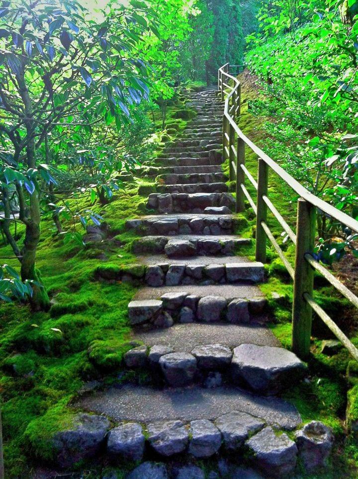 DIY Gartentreppe asu Steinen für eine natürliche Gartengestaltung