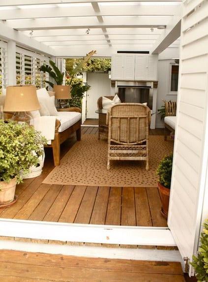 wohnzimmer inspirationen als überdachte terrasse gestalten