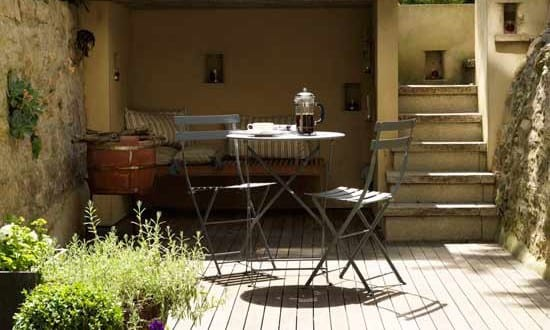 kleine garten terrasse als wohnzimmer einrichten freshouse. Black Bedroom Furniture Sets. Home Design Ideas
