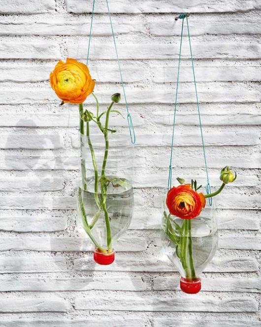 Bastelidee für DIY Vase aus PET-Flaschen