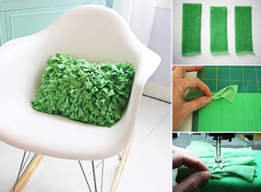 bastelideen für DIY Kissen in grün