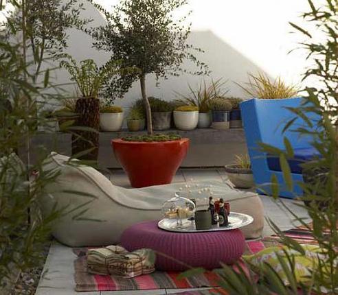 mediterrane terrasse einrichten als kleines wohnzimmer draußen mit ...