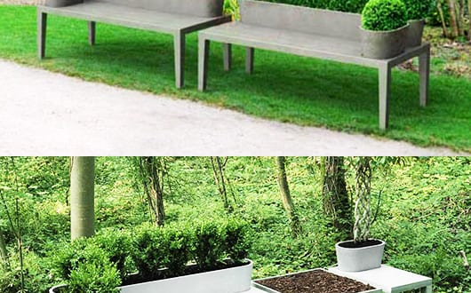 moderne gartenbank aus beton freshouse. Black Bedroom Furniture Sets. Home Design Ideas
