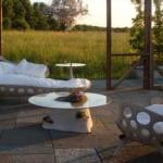 coole gartengestaltung mit Beton_moderne Betonmöbel für den garten