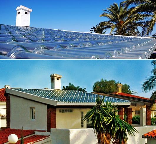 Solaranlage und moderne Dacheindeckung für mediterrane Häuser