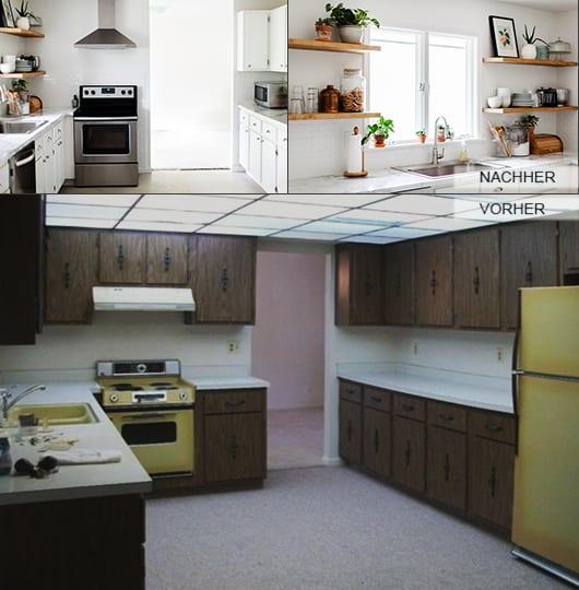 küche weiß mit wandfarbe weiß und wandgestaltung küche mit wandregalen holz