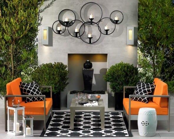 sch ne gartenideen f r kleines wohnzimmer drau en freshouse. Black Bedroom Furniture Sets. Home Design Ideas
