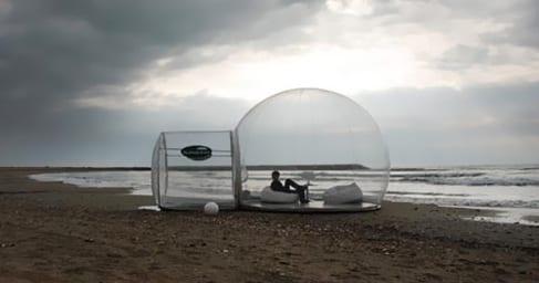 bubble zelt zum schlafen am mehr
