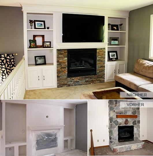 renovieren wohnzimmer mit kamin_kleines wohnzimmer mit eingebautem kamin und  wandnischen
