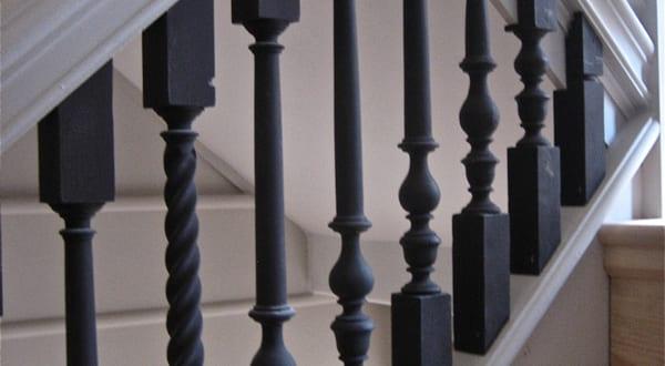 coole idee zum gel nder streichen in schwarz freshouse. Black Bedroom Furniture Sets. Home Design Ideas
