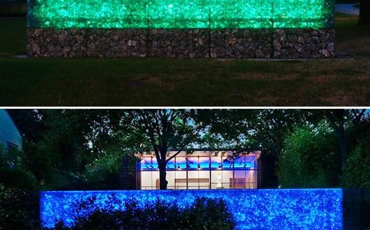 gabione-gartenmauer-mit-LED-Beleuchtung - fresHouse