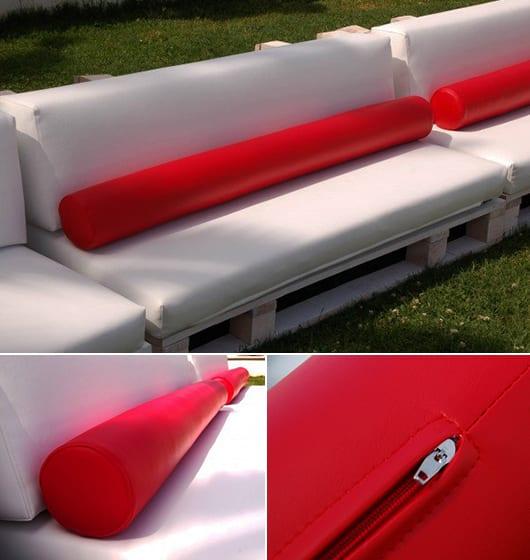 moderne sofakissen un rot für weiße gartenmöbel aus paletten