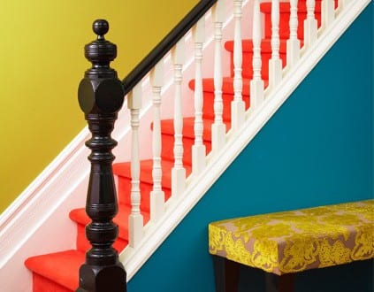gel nder streichen holztreppe streichen idee freshouse. Black Bedroom Furniture Sets. Home Design Ideas