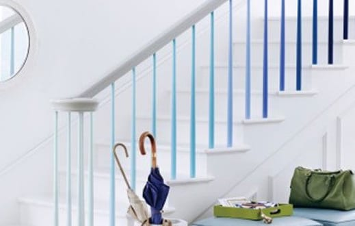 gel nder streichen idee f r innentreppe freshouse. Black Bedroom Furniture Sets. Home Design Ideas
