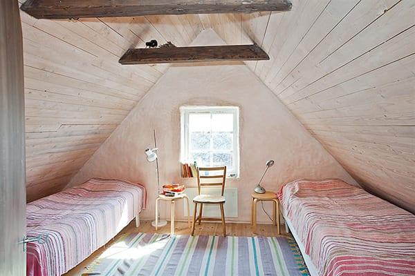 kleine schlafzimmer design idee für schlafzimmer mit dachschräge