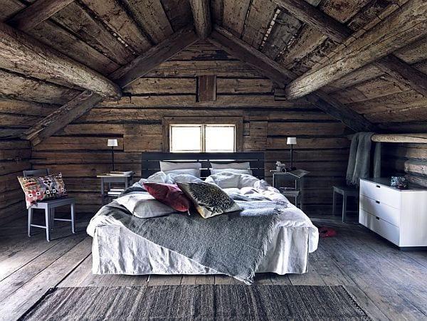 schlafzimmer modern gestalten mit sideboard weiß und nachttischen grau