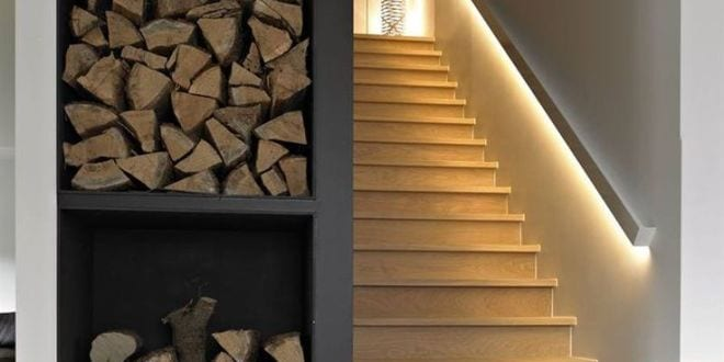 indirekte led beleuchtung als lichtgestaltung treppe via. Black Bedroom Furniture Sets. Home Design Ideas
