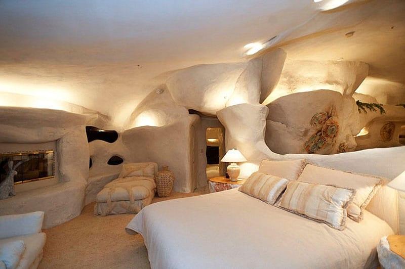 modernes haus und modernes schlafzimmer design mit ausgemauerten w-nden und indirekte beleuchtung