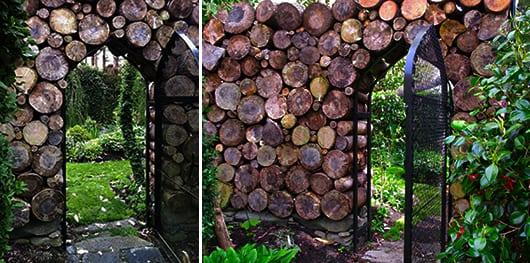 kreative gartenmauern aus holz