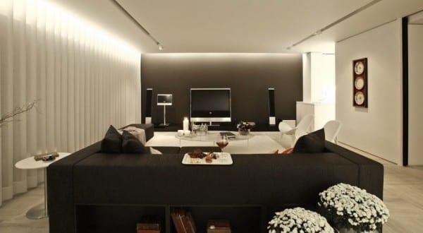 interior design ideas für modernes wohnzimmer mit heimkino ...