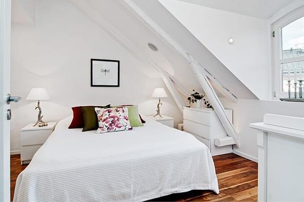 Ikea Schlafzimmer inspiration für modernes schlafzimmer dachschräge design in weiß