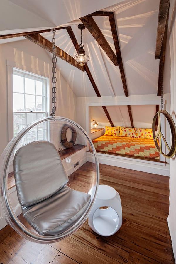 moderns schlafzimmer gestalten mit schlafnische  und fensterbank_deckengestaltung und beleuchtung schlafzimmer