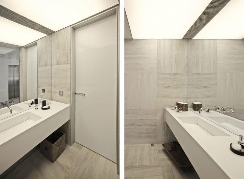 badezimmer grau mit hellgrauen marmor badezimmerfliesen