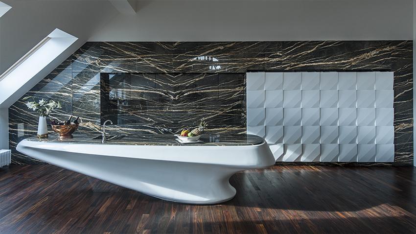 küche marmor mit moderner kochinsel weiß mit küchenarbeitsfläche aus marmor braun