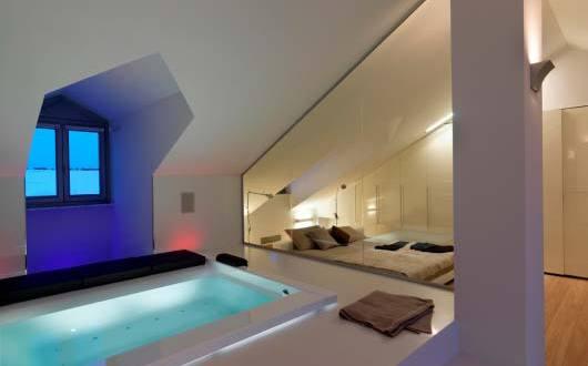 luxus schlafzimmer ideen für gemütliches schlafzimmer mit whirlpool ...