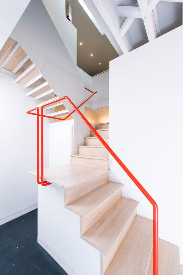 treppengeländer streichen idee für moderne weiße treppenräume