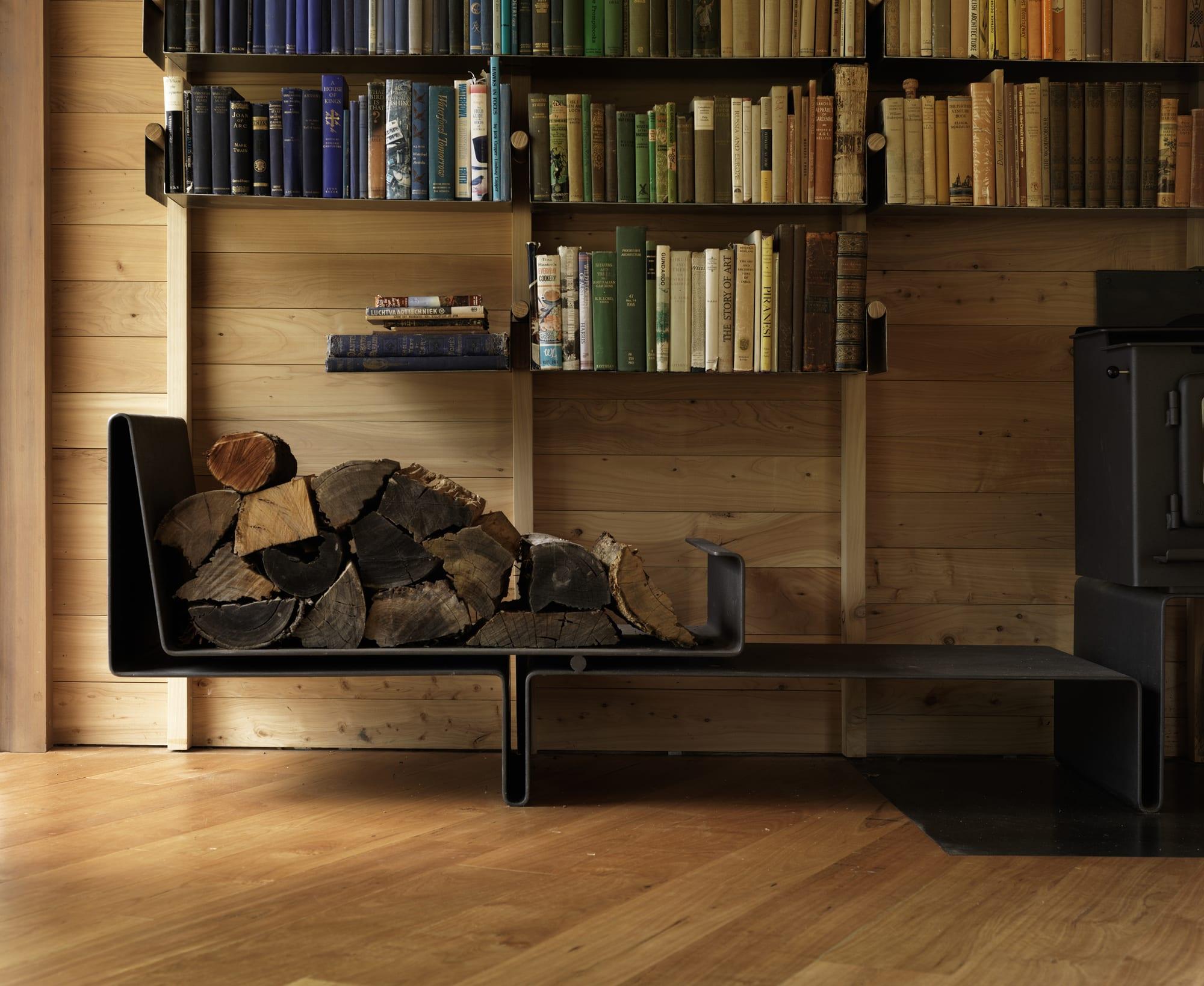 Wohnzimmer Idee für Einrichtung mit modernem Kaminofen