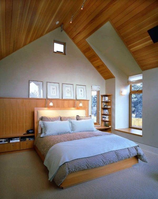 moderne schlafzimmer gestalten mit deckenleuchten und Wanddeko mit bildern