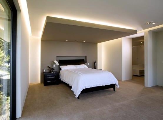 indirekte deckenbeleuchtung und wandbeleuchtung schlafzimmer
