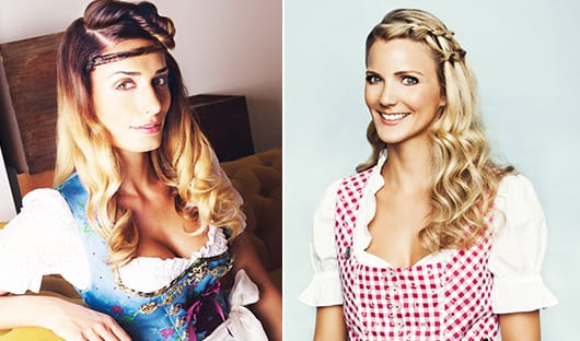 Dirndl frisuren fur locken