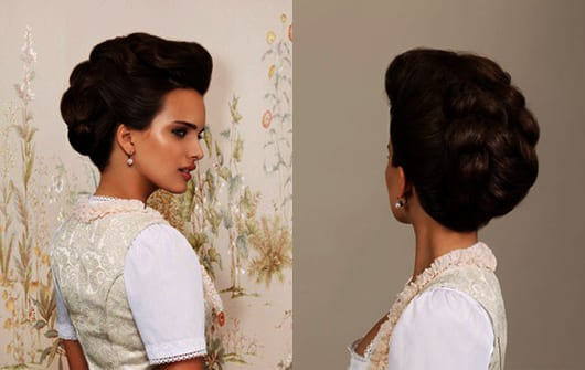 schöne frisuren für lange haare als idee für dirndl frisuren oktoberfest 2015