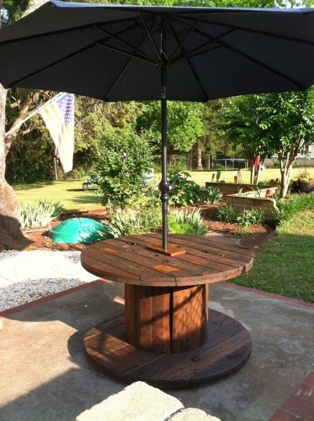 DIY Gartenmöbel für Gartengestaltung mit Esstisch massiv